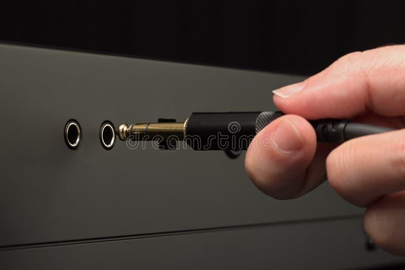 Conector de auriculares audio de conexión imagen de archivo