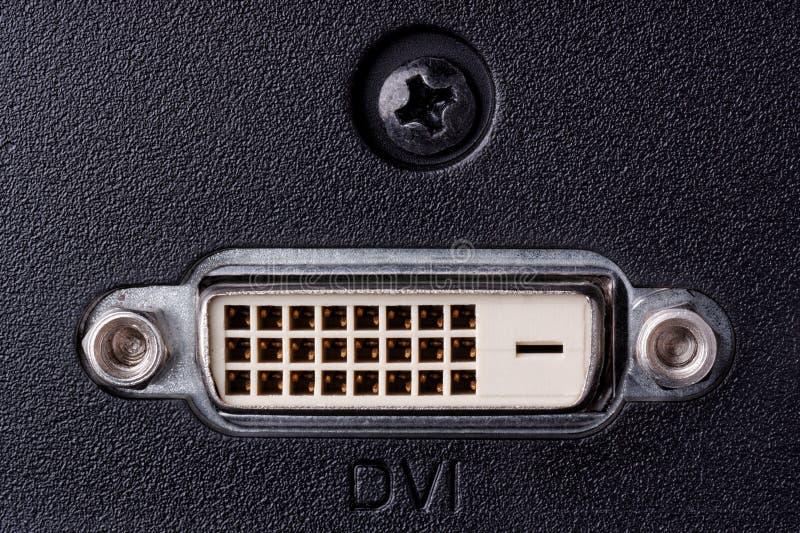 Conector de DVI imagem de stock
