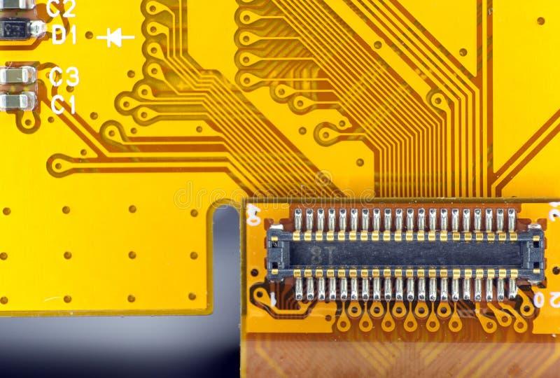 Conector De La Tarjeta De Circuitos Impresos Imagen de archivo libre de regalías