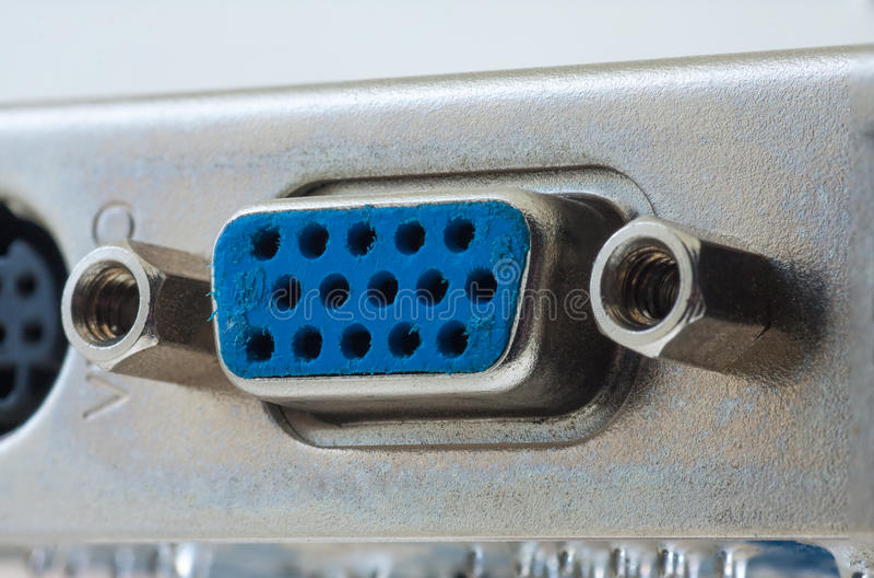Conector de Mainboard do PC do porto video de VGA imagem de stock royalty free