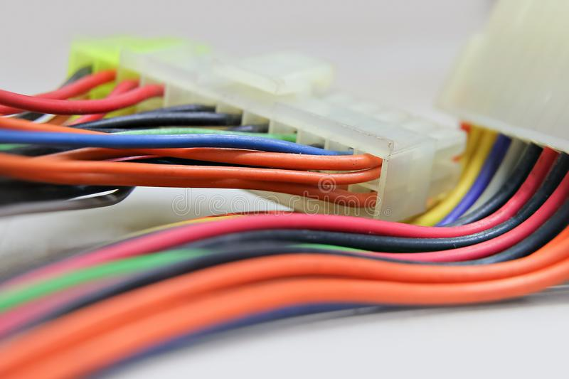 Conector del arnés de cable fotos de archivo