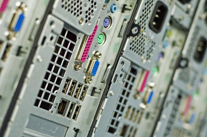 Conector del ordenador fotos de archivo