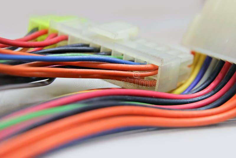 Conector do chicote de fios do fio fotos de stock