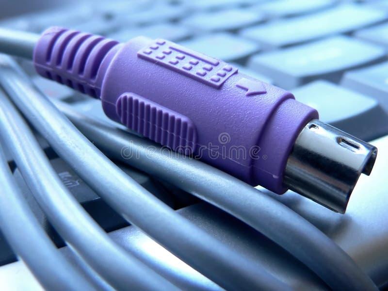 Conector do teclado Ps/2 fotografia de stock royalty free