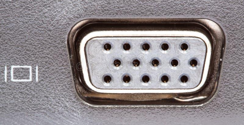 Conector do VGA foto de stock