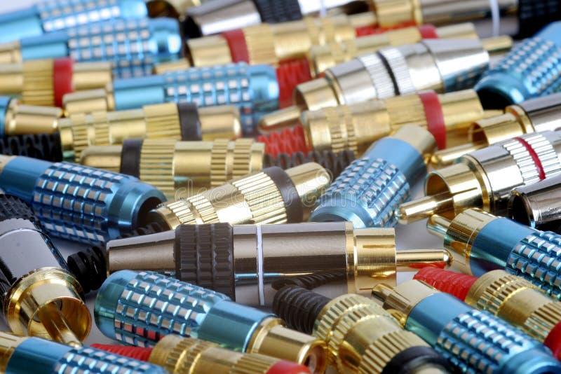 Conectores foto de stock