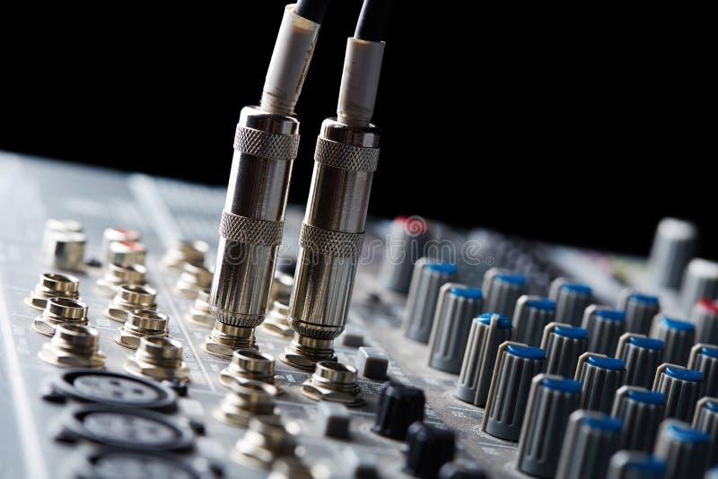 Conectores audios imagen de archivo libre de regalías