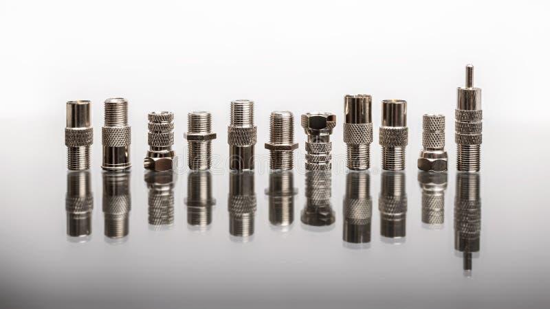 Conectores coaxiais imagem de stock
