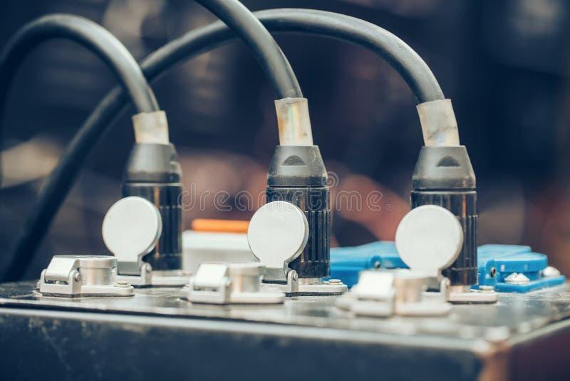 Conectores de audio de XLR foto de archivo