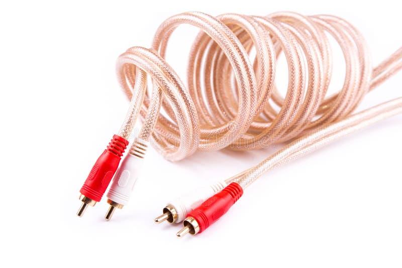 Conectores de cable aislados en blanco fotos de archivo libres de regalías