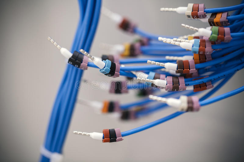 Conectores de cable eléctrico foto de archivo libre de regalías