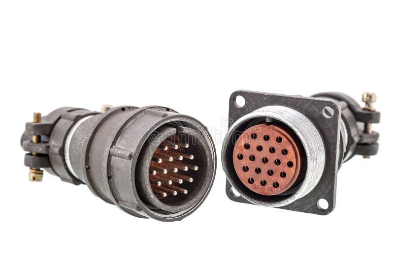 Conectores de cabo fotografia de stock