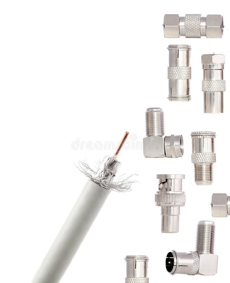 Conectores de CATV foto de archivo libre de regalías
