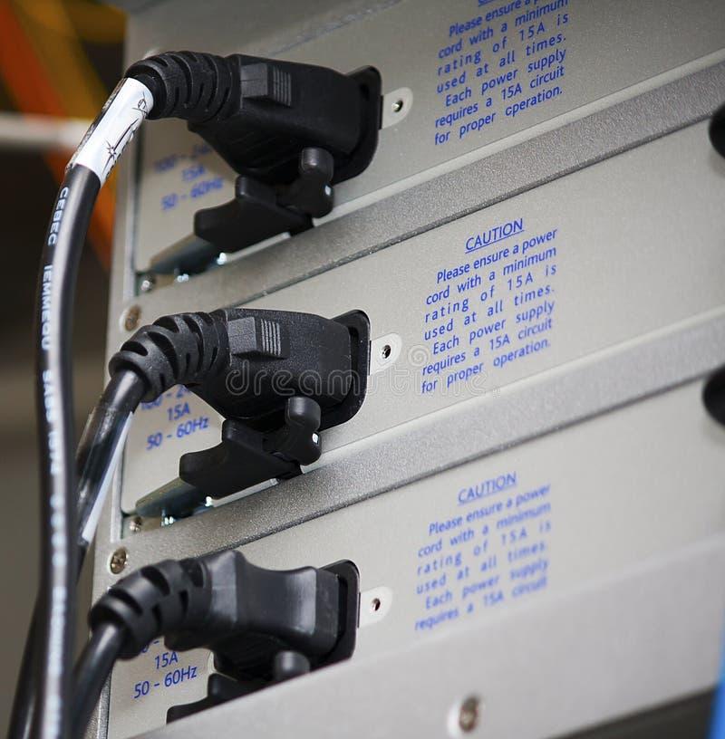 Conectores de potencia imagen de archivo