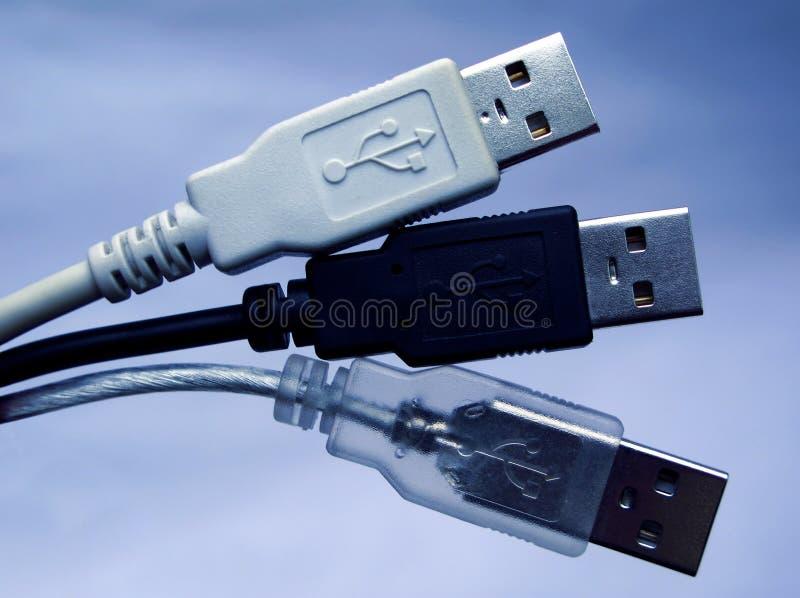 Conectores do USB imagem de stock