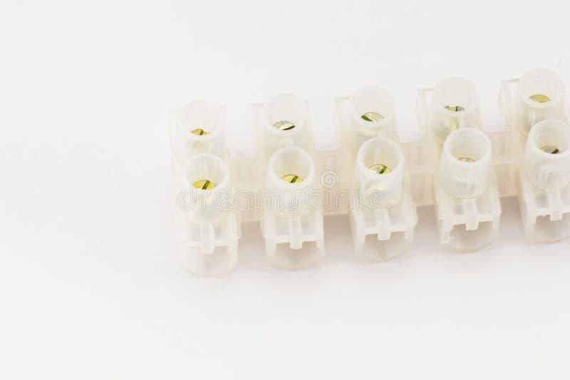 Conectores eléctricos de los cojines imágenes de archivo libres de regalías