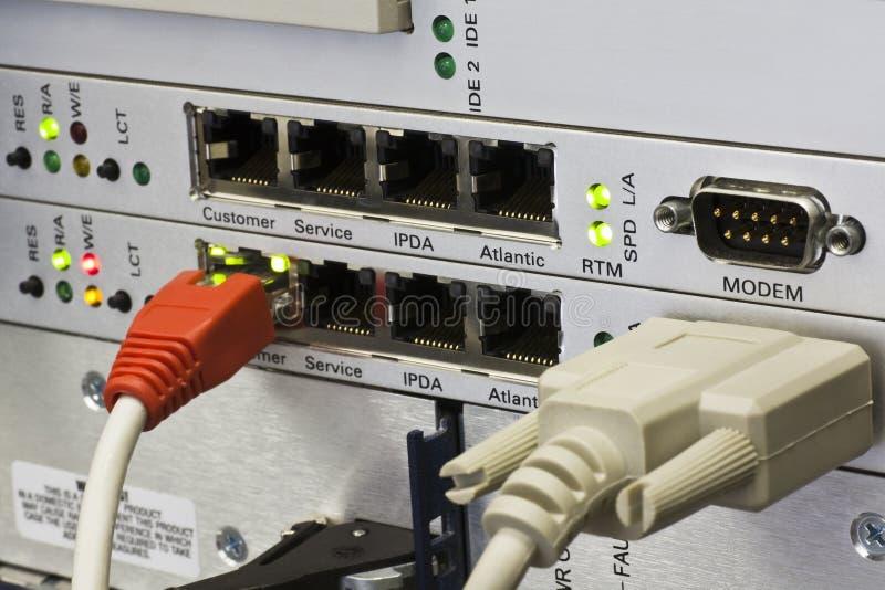 Conectores RJ45 imagen de archivo libre de regalías
