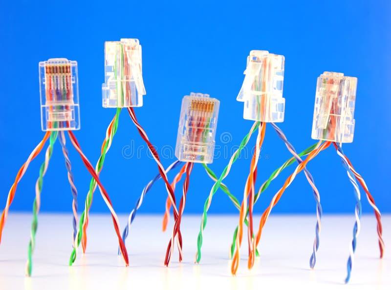Conectores RJ45 para la red imagenes de archivo
