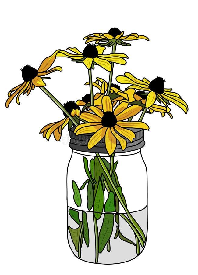 Coneflowers giallo immagini stock libere da diritti