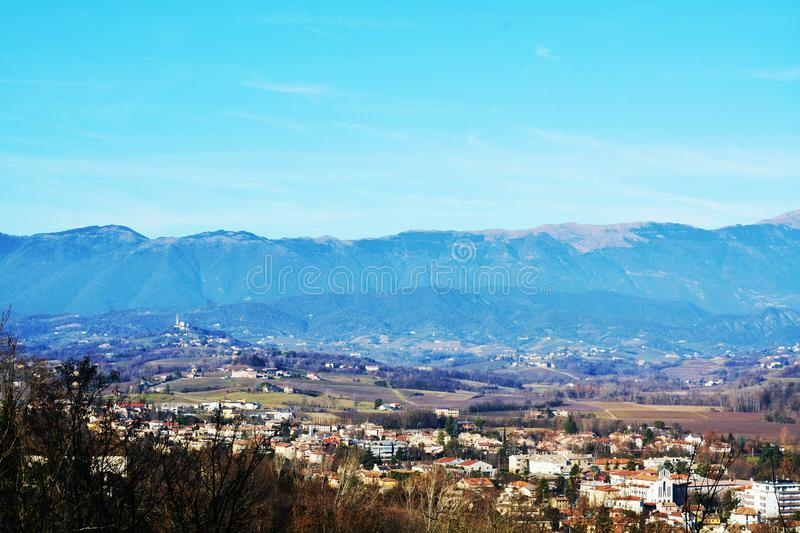 Conegliano Veneto and panoramic view, Italy royalty free stock photography