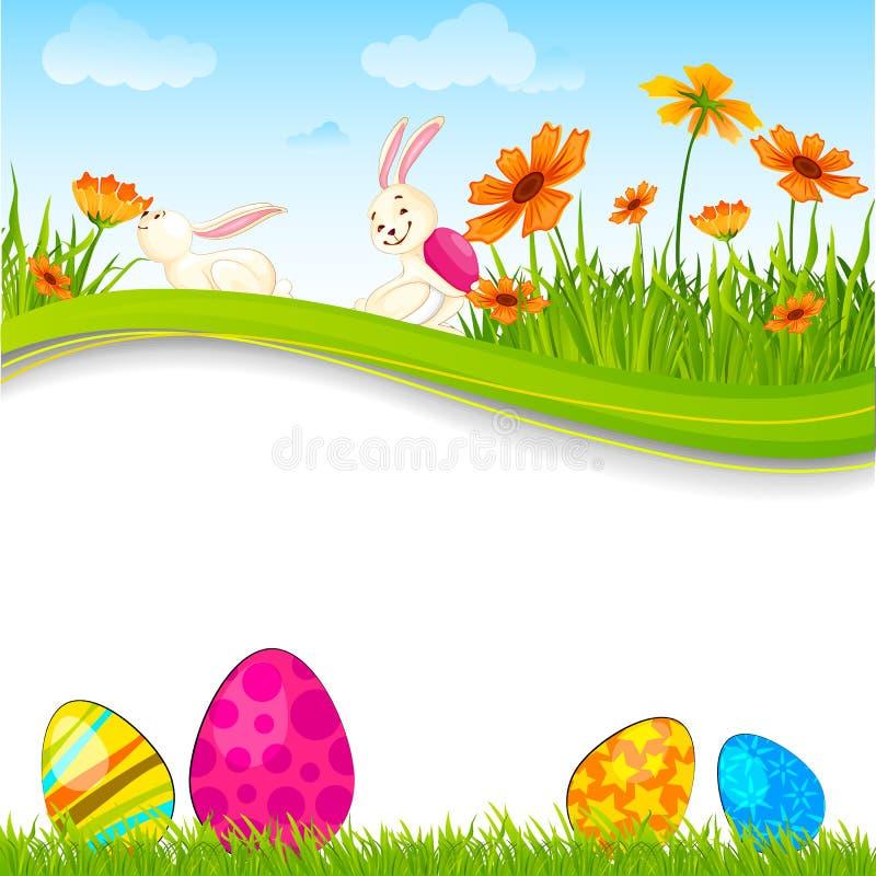 Conejito con el huevo de Pascua stock de ilustración
