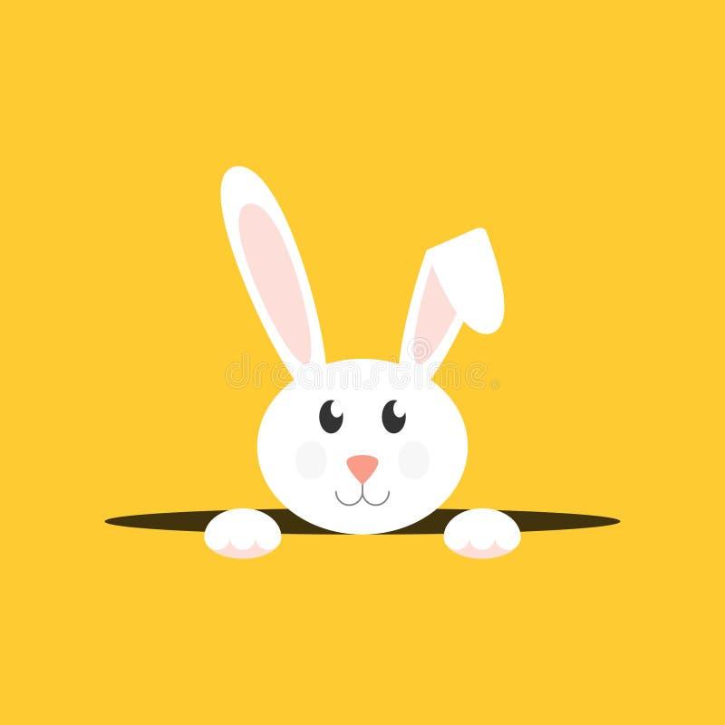 Conejito de pascua blanco ilustración del vector