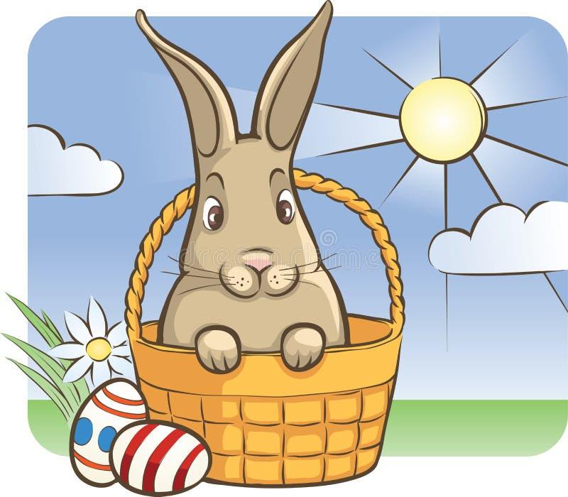 Conejito de pascua con los huevos libre illustration