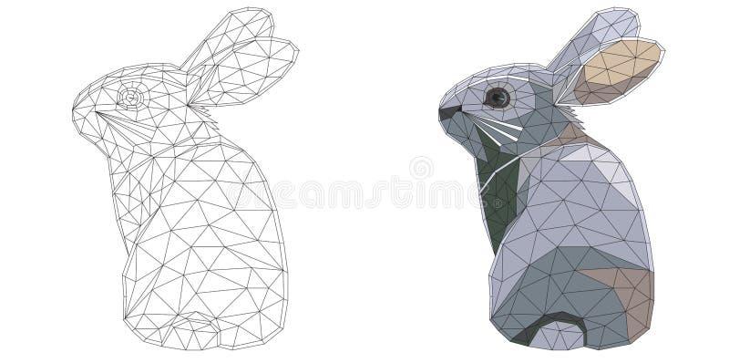 Conejito De Pascua Del Mosaico Para Colorear Y El Diseño Con Ejemplo ...