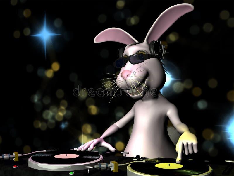 Conejito de pascua DJ imágenes de archivo libres de regalías