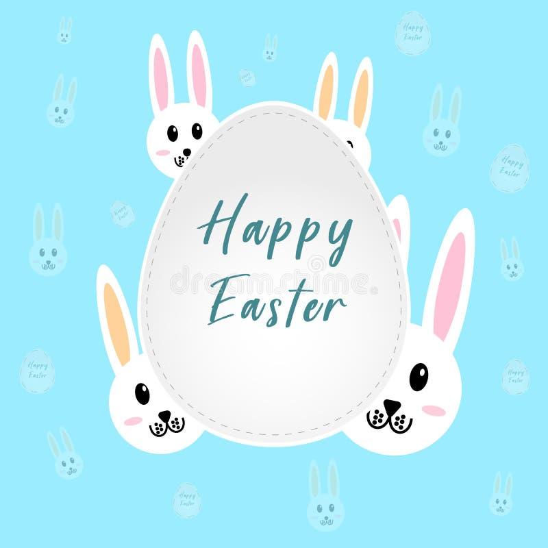Conejito de pascua feliz Tarjeta de felicitación de Pascua imagen de archivo