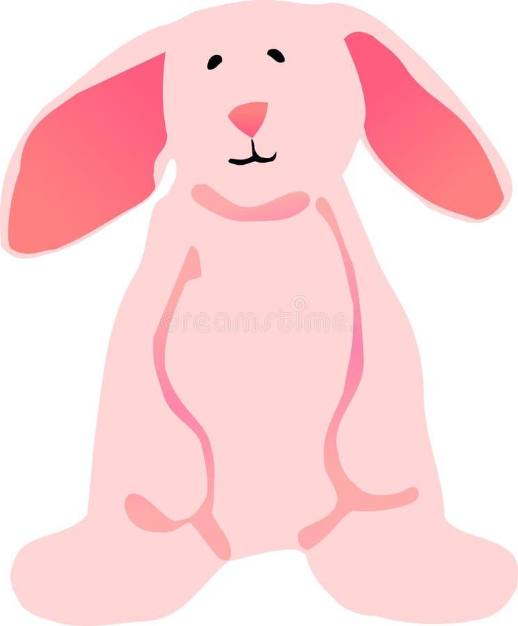 Conejito de pascua rosado ilustración del vector