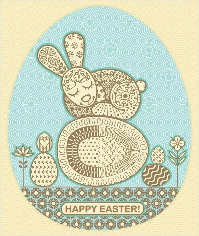 Conejito del sueño de Pascua stock de ilustración
