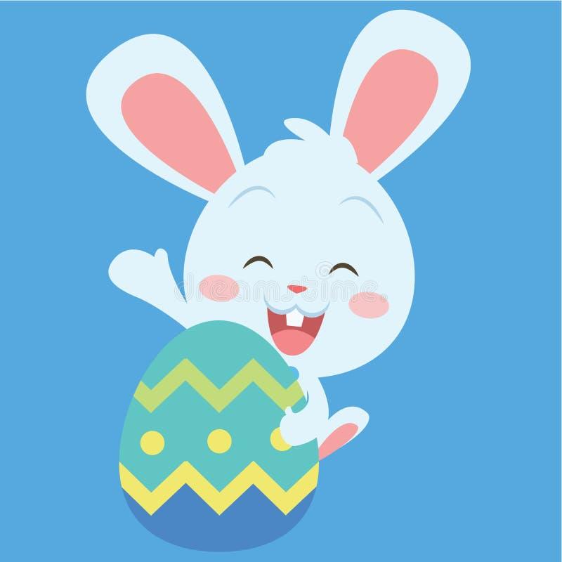 Conejito feliz con el huevo de Pascua libre illustration