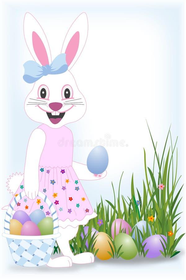 Conejito feliz de Pascua stock de ilustración