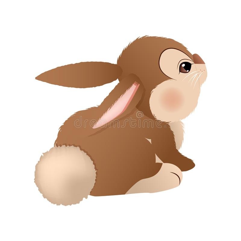 Conejito marrón adorable Vector ilustración del vector
