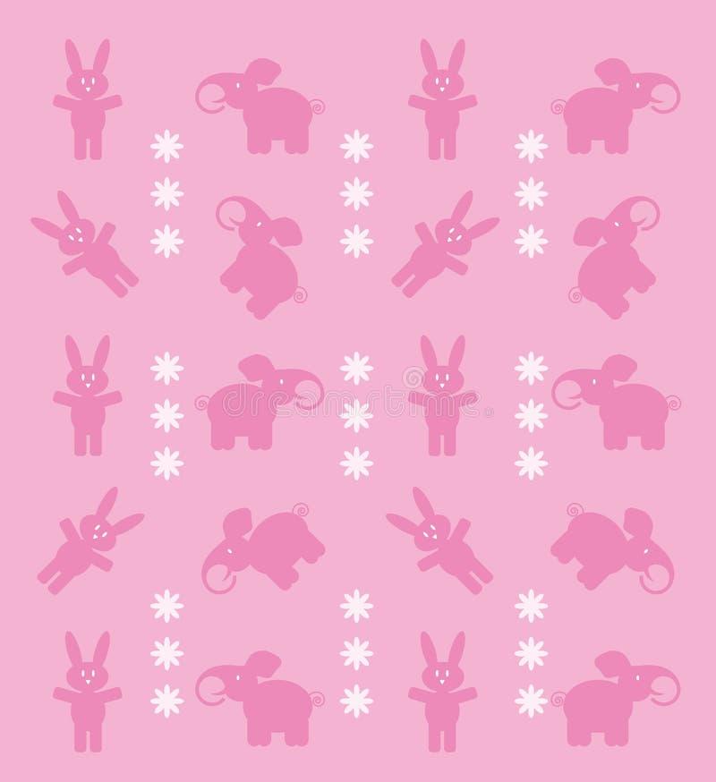Download Conejitos y elefantes ilustración del vector. Ilustración de ilustración - 7278427