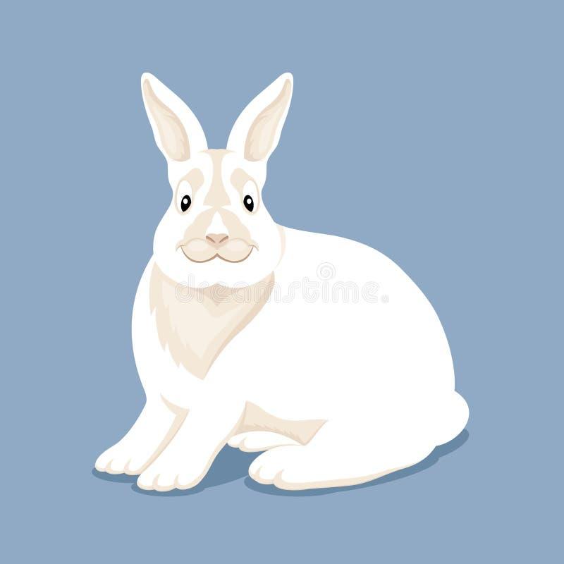 Conejo blanco lindo stock de ilustración