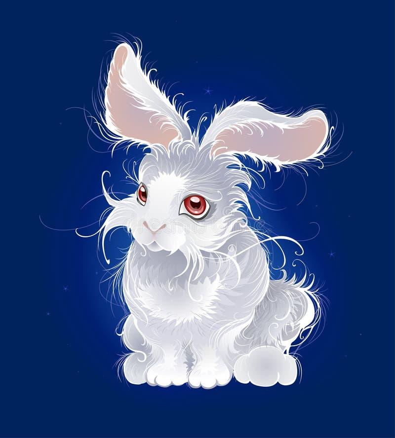 Conejo blanco mágico ilustración del vector