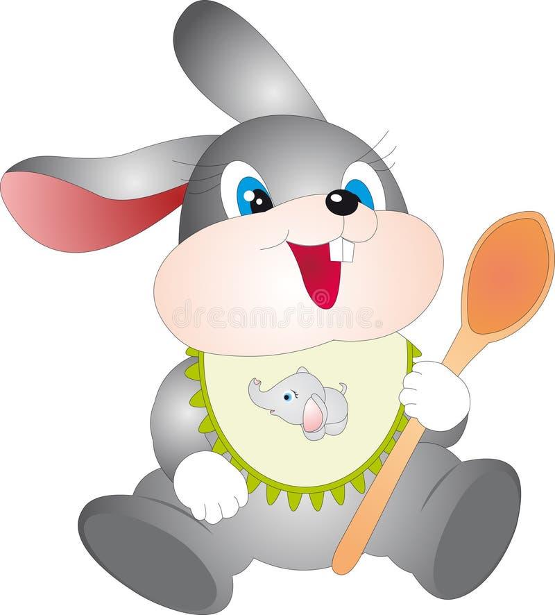 Conejo con la cuchara libre illustration