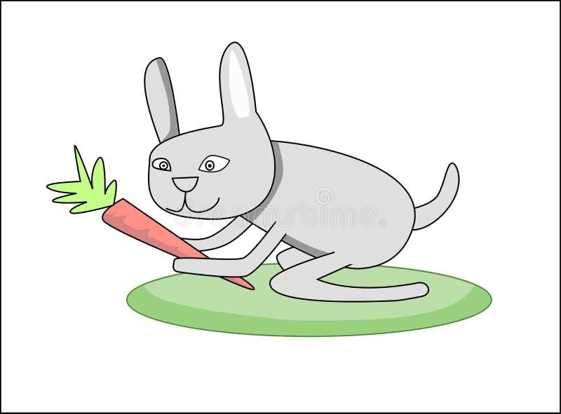 Conejo con la zanahoria foto de archivo libre de regalías