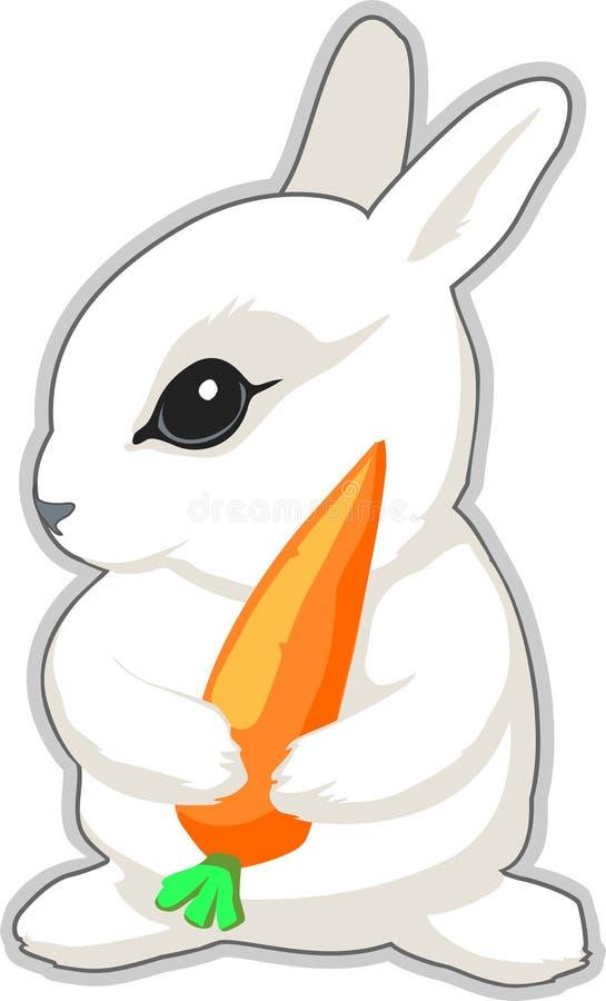 Conejo con la zanahoria stock de ilustración