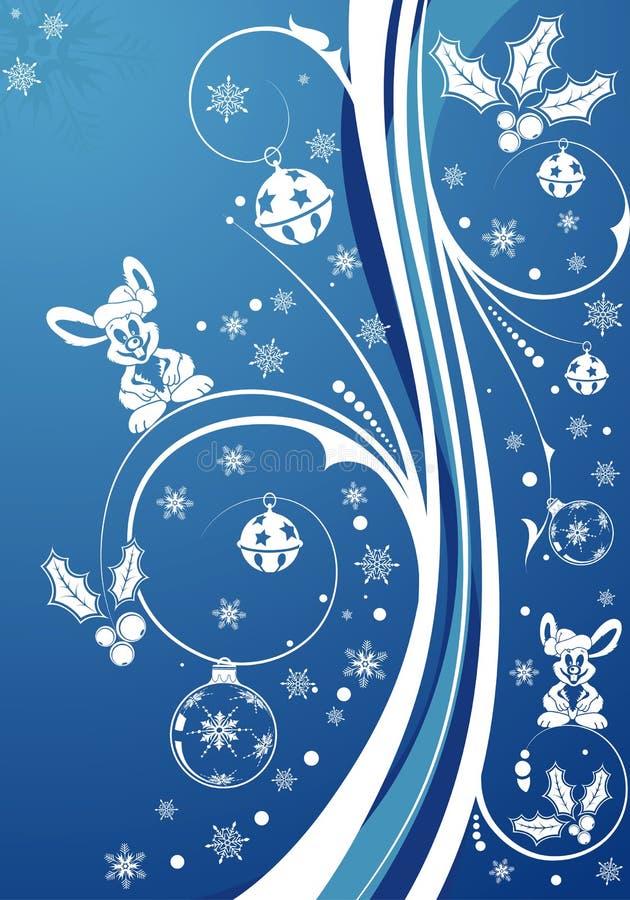 Conejo de la Navidad stock de ilustración