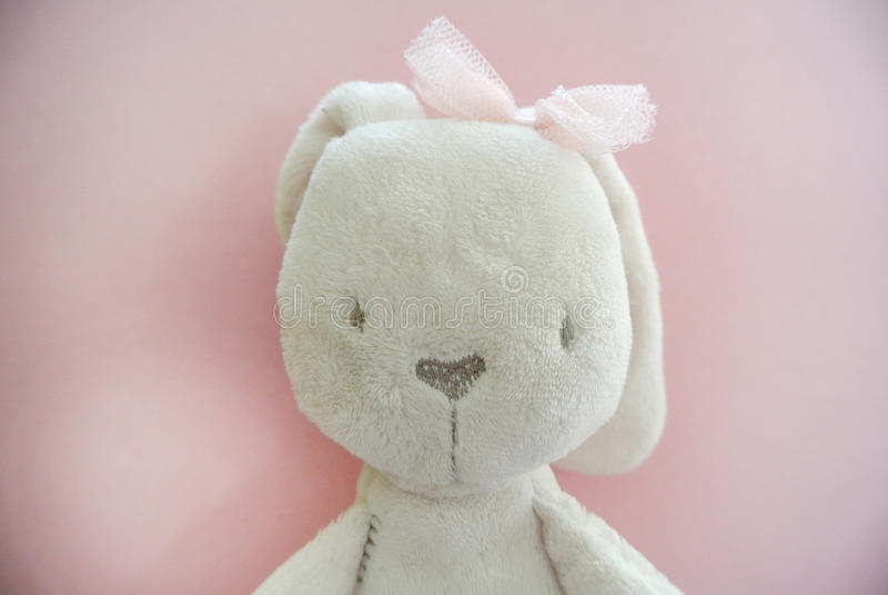 Conejo del paño imagen de archivo libre de regalías