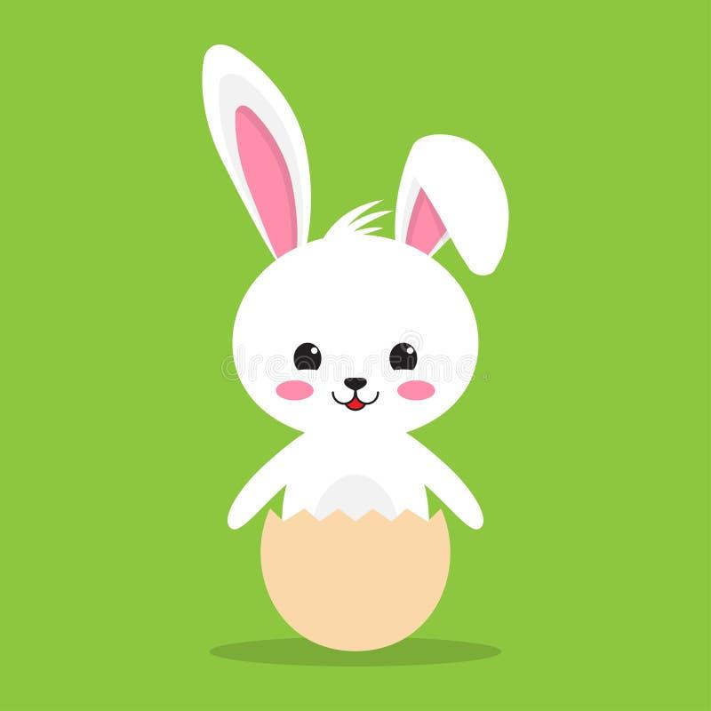 Conejo feliz de Pascua, conejito lindo blanco libre illustration