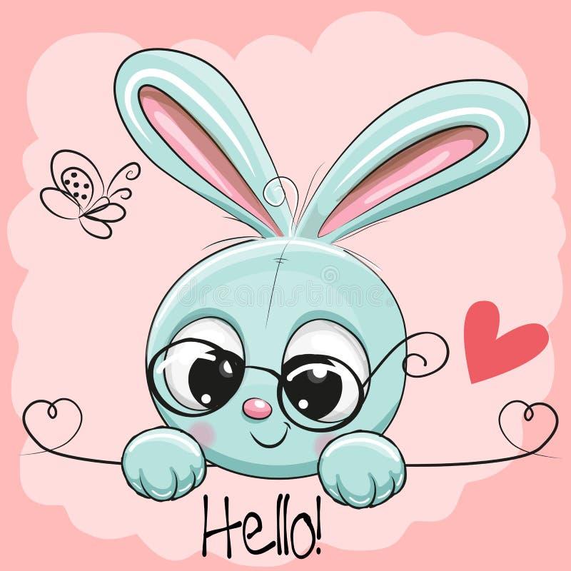 Conejo lindo del dibujo stock de ilustración