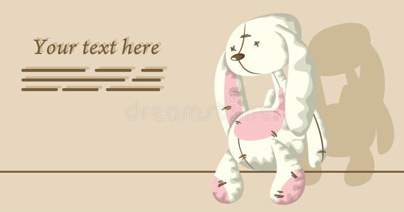 Conejo triste foto de archivo libre de regalías