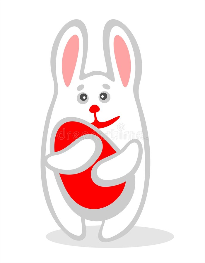 Conejo y huevo ilustración del vector
