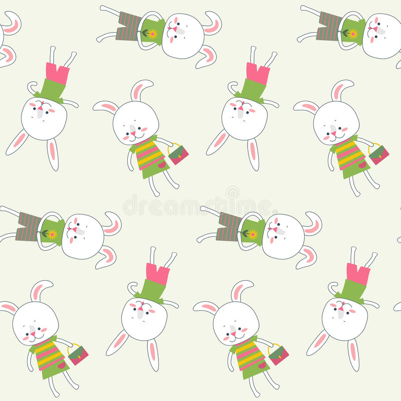 conejos stock de ilustración