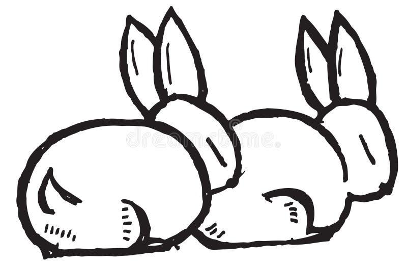 Conejos de la historieta libre illustration