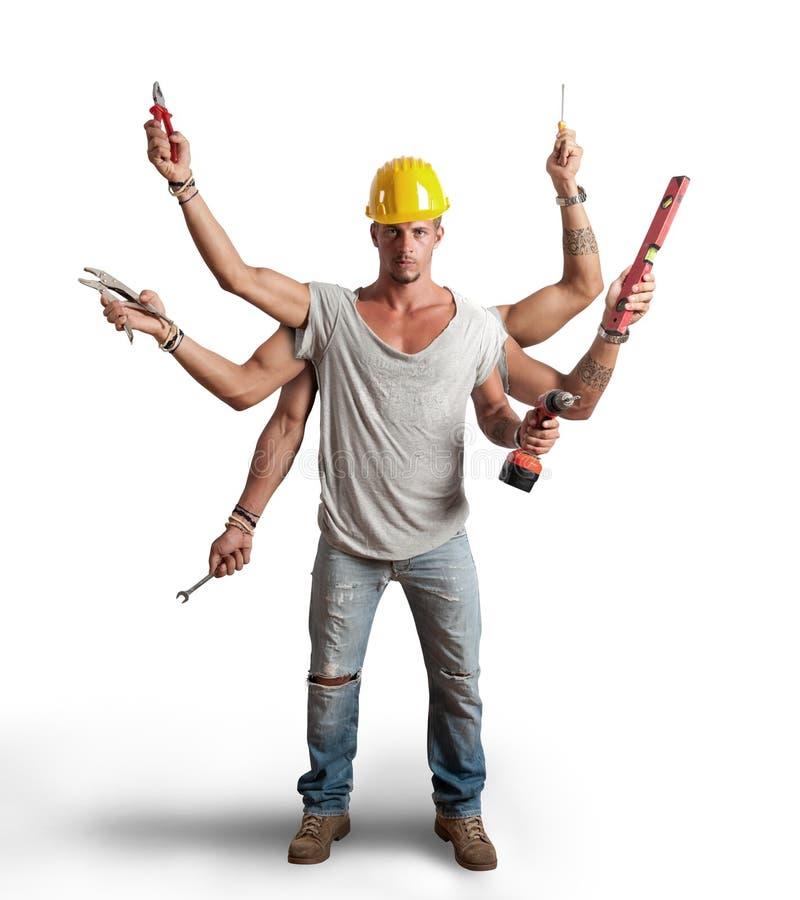 Conept работника Multitasking стоковое изображение rf